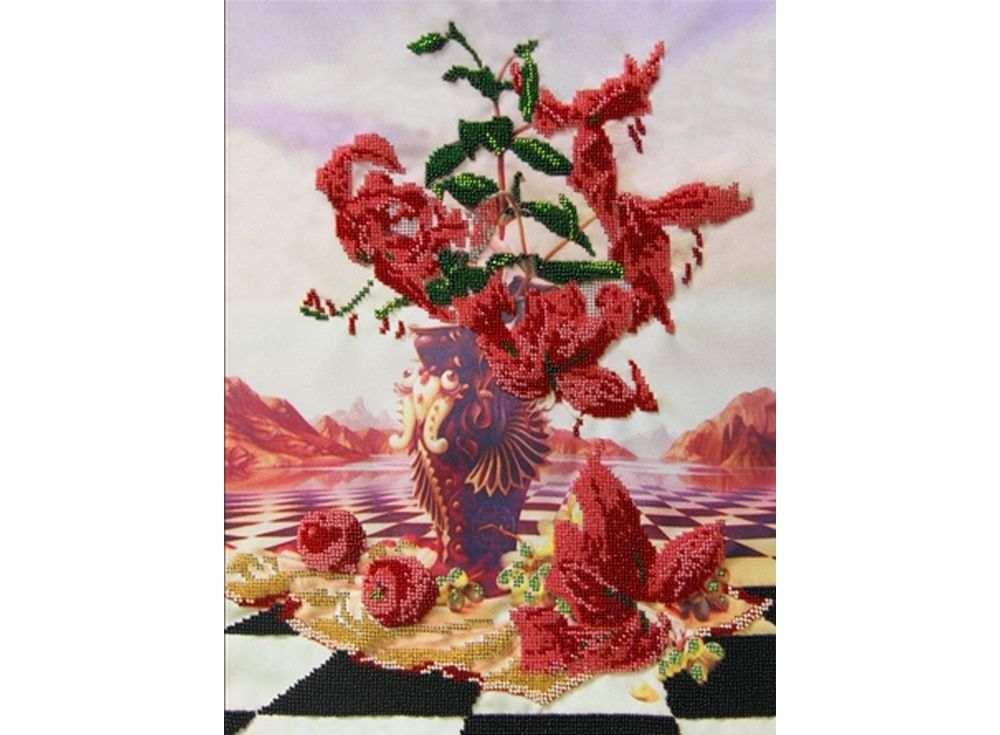 Купить Вышивка бисером, Набор вышивки бисером «Гармония», Астрея (Глурия), 40x30 см, 50329