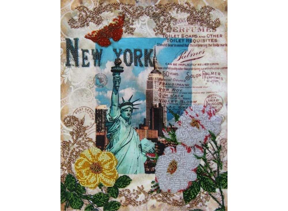 Набор вышивки бисером «Вокруг света - Нью Йорк»Вышивка бисером Астрея (Глурия)<br><br><br>Артикул: 51420<br>Основа: габардин<br>Размер: 40х32 см<br>Техника вышивки: бисер<br>Тип схемы вышивки: Цветная схема<br>Количество цветов: 14<br>Заполнение: Частичное<br>Рисунок на канве: нанесён рисунок и схема<br>Техника: Вышивка бисером