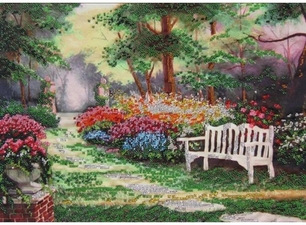 Купить Вышивка бисером, Набор вышивки бисером «Отдых в саду», Астрея (Глурия), 40x30 см, 51438