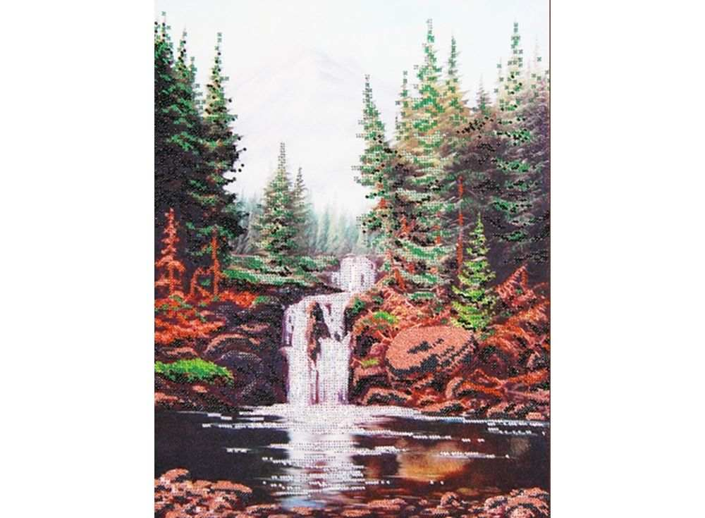 Набор вышивки бисером «Камни и водопад»Вышивка бисером<br><br>
