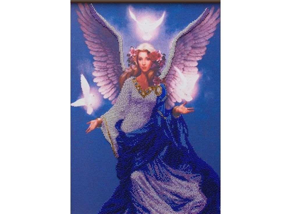 Набор вышивки бисером «Небесный ангел»Вышивка бисером Астрея (Глурия)<br><br><br>Артикул: 52014<br>Основа: габардин<br>Размер: 30х40 см<br>Техника вышивки: бисер<br>Тип схемы вышивки: Цветная схема<br>Количество цветов: 10<br>Заполнение: Частичное<br>Рисунок на канве: нанесён рисунок и схема<br>Техника: Вышивка бисером