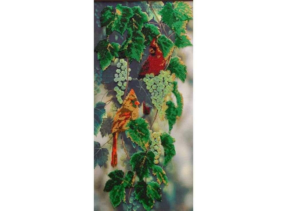 Набор вышивки бисером «Птицы на белом винограде»Вышивка бисером Астрея (Глурия)<br><br><br>Артикул: 53106<br>Основа: габардин<br>Размер: 30x60 см<br>Техника вышивки: бисер<br>Тип схемы вышивки: Цветная схема<br>Количество цветов: 13<br>Заполнение: Частичное<br>Рисунок на канве: нанесён рисунок и схема<br>Техника: Вышивка бисером