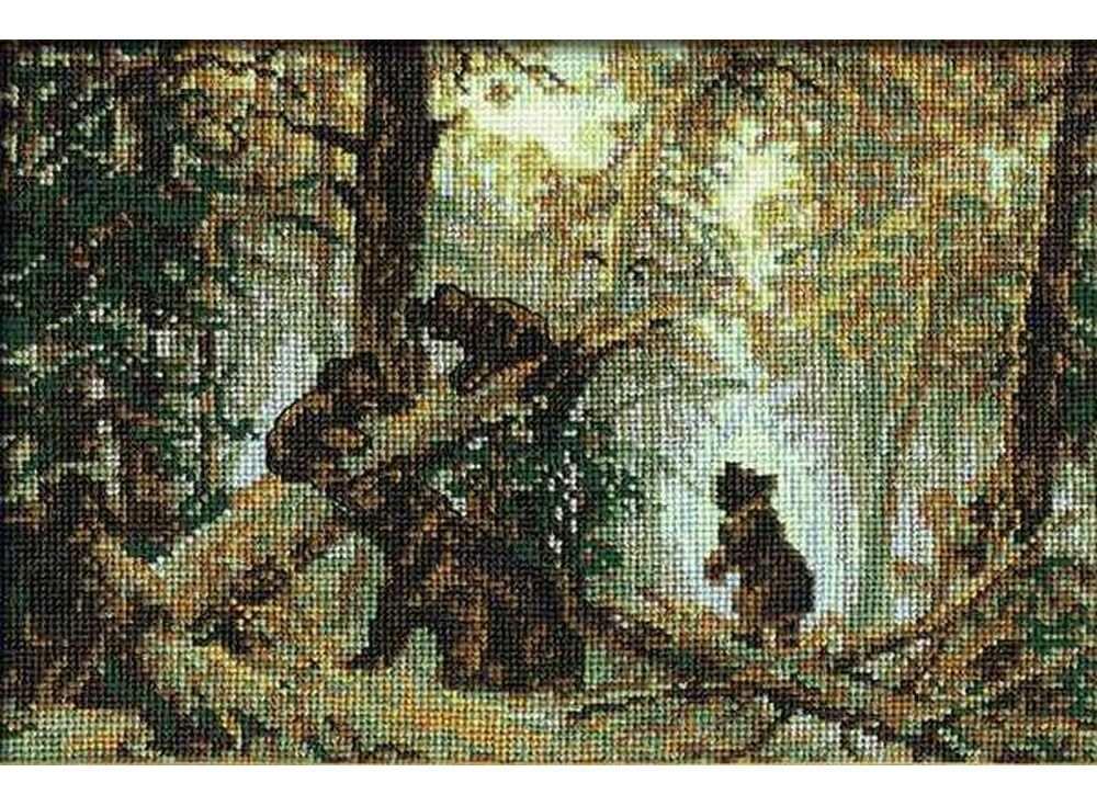 Набор для вышивания «Утро в сосновом лесу. И.Шишкин»Вышивка крестом Риолис<br><br><br>Артикул: 536<br>Основа: канва 10 Aida Zweigart<br>Размер: 38х26 см<br>Техника вышивки: счетный крест<br>Серия: Риолис (Сотвори Сама)<br>Тип схемы вышивки: Цветная схема<br>Цвет канвы: Белый<br>Количество цветов: 14<br>Художник, дизайнер: Елена Дмитриевская<br>Заполнение: Полное<br>Рисунок на канве: не нанесён<br>Техника: Вышивка крестом