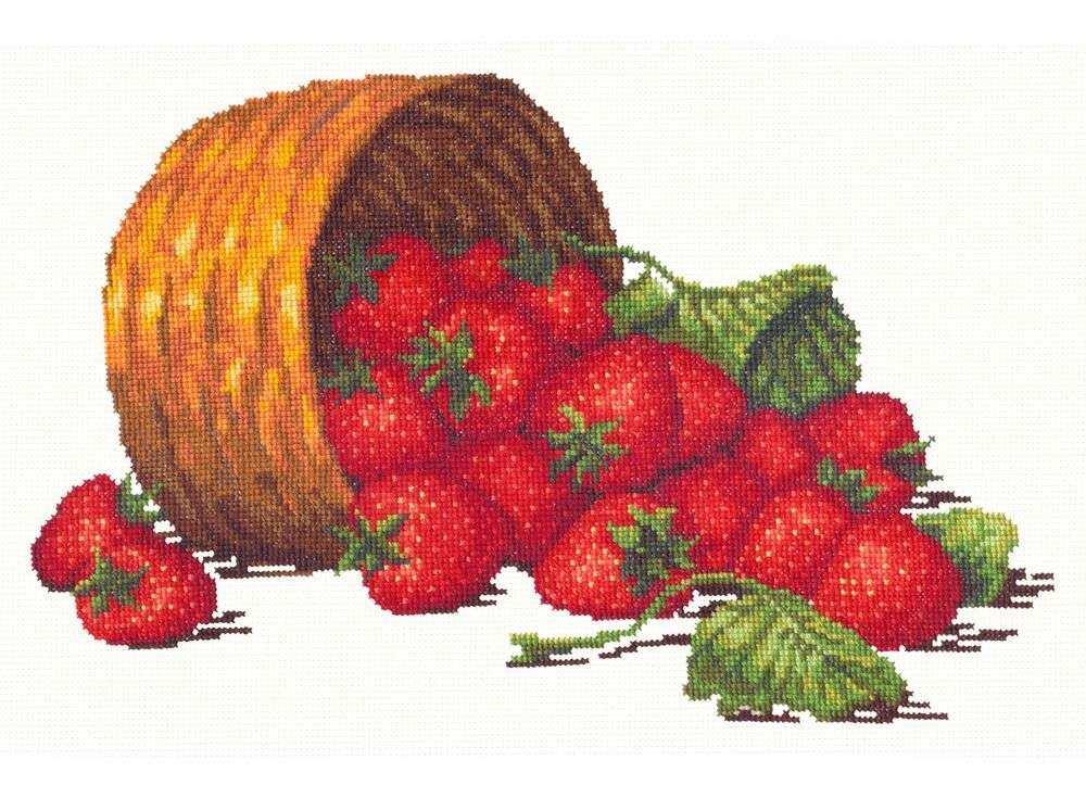 Набор для вышивания «Сладкая ягода»Вышивка крестом Чудесная игла<br><br><br>Артикул: 55-08<br>Основа: канва Aida 16 (хлопок)<br>Сложность: средние<br>Размер: 30х19 см<br>Техника вышивки: счетный крест<br>Тип схемы вышивки: Цветная схема<br>Цвет канвы: Белый<br>Количество цветов: 25<br>Игла: № 24<br>Рисунок на канве: не нанесён<br>Техника: Вышивка крестом<br>Нитки: мулине 100% хлопок Чудесная игла