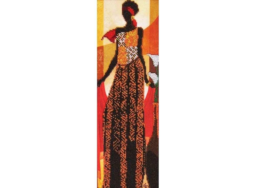 Набор вышивки бисером «Африканский стиль 2»Вышивка бисером Астрея (Глурия)<br><br><br>Артикул: 55057<br>Основа: габардин<br>Размер: 14x40 см<br>Техника вышивки: бисер<br>Тип схемы вышивки: Цветная схема<br>Количество цветов: 10<br>Заполнение: Частичное<br>Рисунок на канве: нанесён рисунок и схема<br>Техника: Вышивка бисером