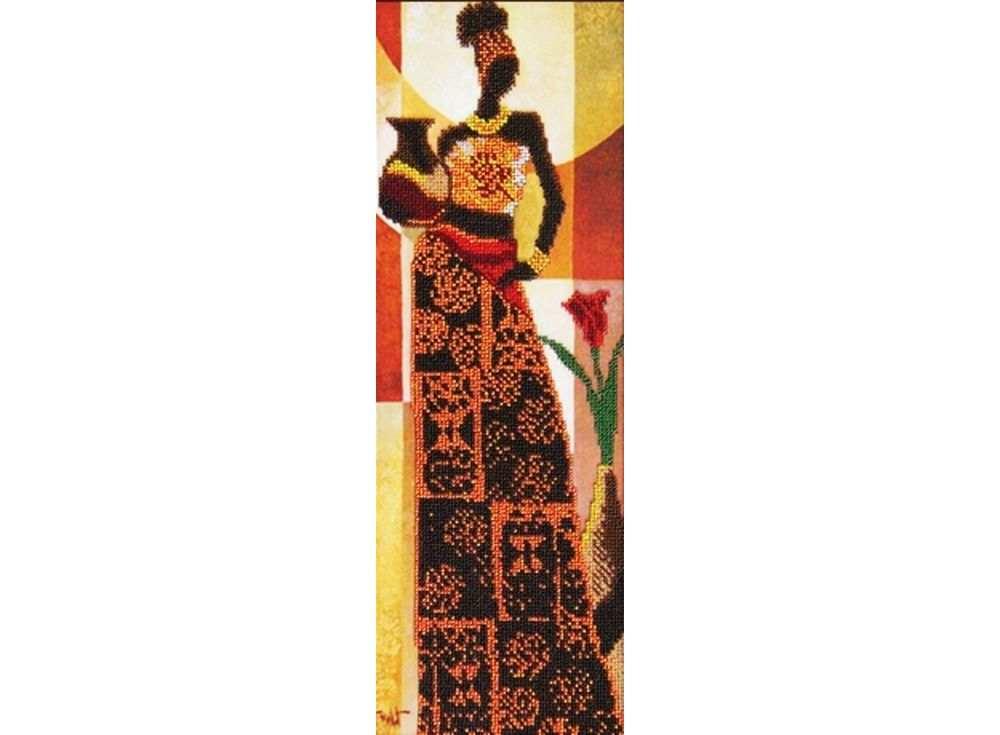 Набор вышивки бисером «Африканский стиль 3»Вышивка бисером Астрея (Глурия)<br><br><br>Артикул: 55058<br>Основа: габардин<br>Размер: 14х40 см<br>Техника вышивки: бисер<br>Тип схемы вышивки: Цветная схема<br>Количество цветов: 10<br>Заполнение: Частичное<br>Рисунок на канве: нанесён рисунок и схема<br>Техника: Вышивка бисером