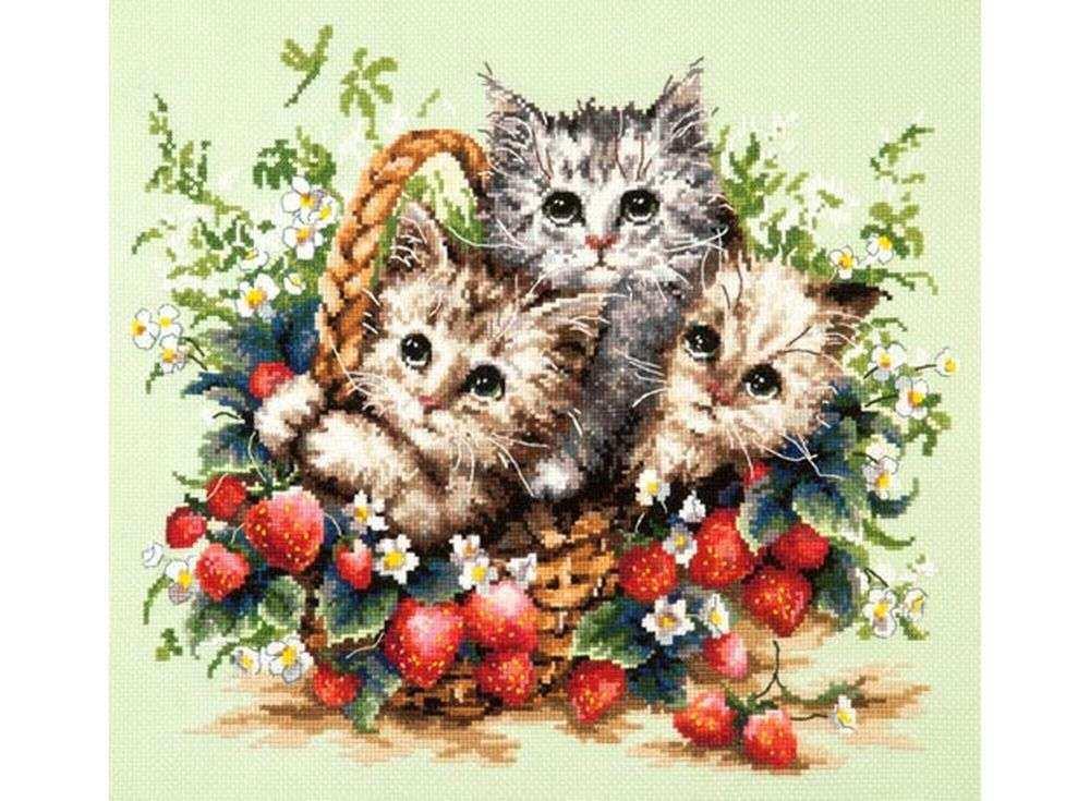 Милые котята вышивка