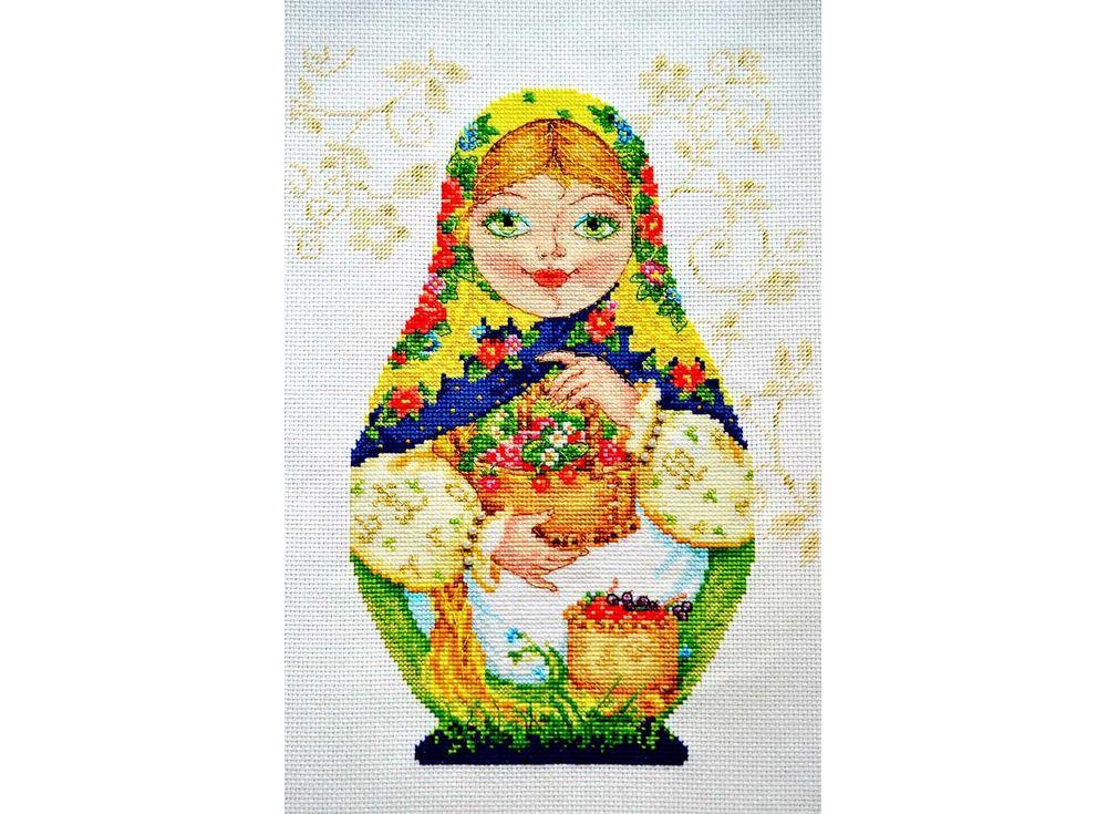 Набор для вышивания «Матрешки. Летняя краса»Вышивка крестом Алиса<br><br><br>Артикул: 6-05<br>Основа: канва Aida 16 100% хлопок Gamma<br>Размер: 19х26 см<br>Тип схемы вышивки: Цветная схема<br>Цвет канвы: Белый<br>Количество цветов: 36<br>Рисунок на канве: не нанесён<br>Техника: Вышивка крестом<br>Нитки: мулине 100% хлопок Gamma
