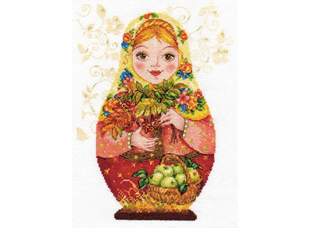 Набор для вышивания «Матрешки. Осенняя краса»Вышивка крестом Алиса<br><br>