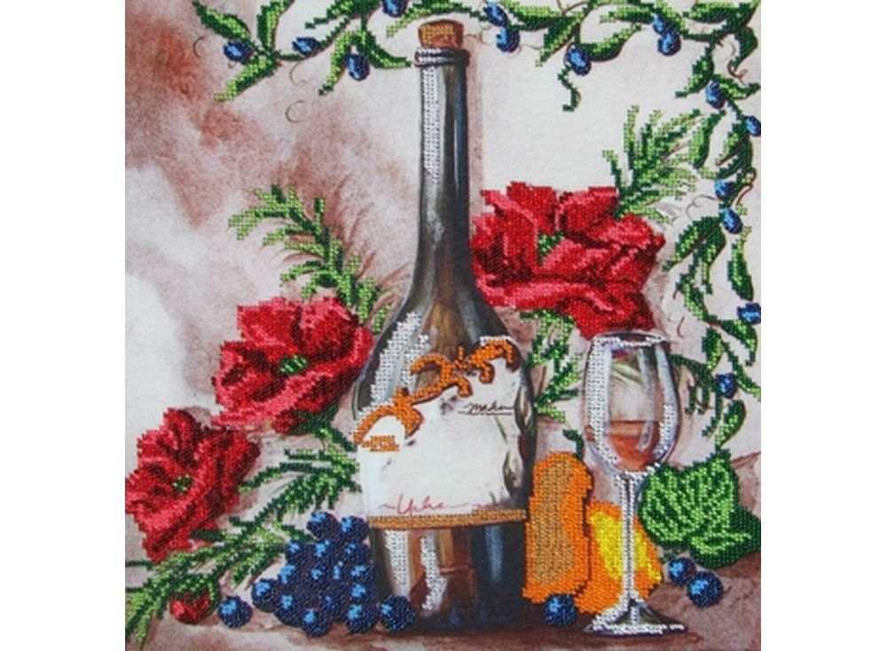 Набор вышивки бисером «Вино»Вышивка бисером Глурия (Астрея)<br><br><br>Артикул: 60100<br>Основа: габардин<br>Размер: 40х32 см<br>Техника вышивки: бисер<br>Тип схемы вышивки: Цветная схема вышивки<br>Количество цветов: 11<br>Заполнение: Частичное