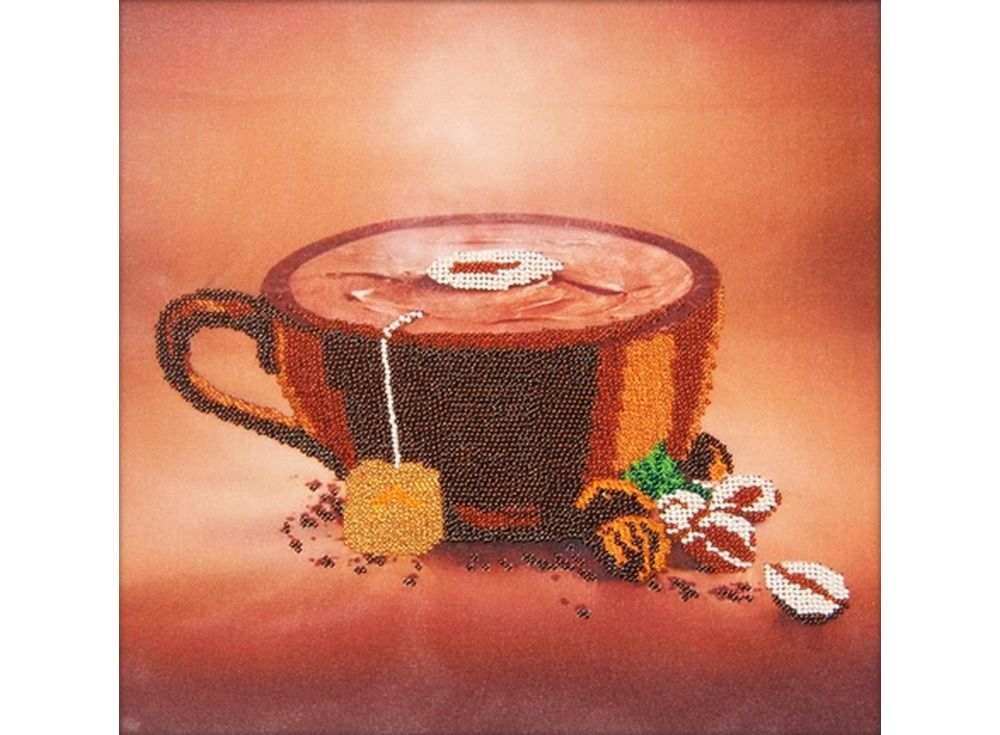 Набор вышивки бисером «Кофе»Вышивка бисером Астрея (Глурия)<br><br><br>Артикул: 60104<br>Основа: габардин<br>Размер: 30х30 см<br>Техника вышивки: бисер<br>Тип схемы вышивки: Цветная схема<br>Количество цветов: 8<br>Заполнение: Частичное<br>Рисунок на канве: нанесён рисунок и схема<br>Техника: Вышивка бисером