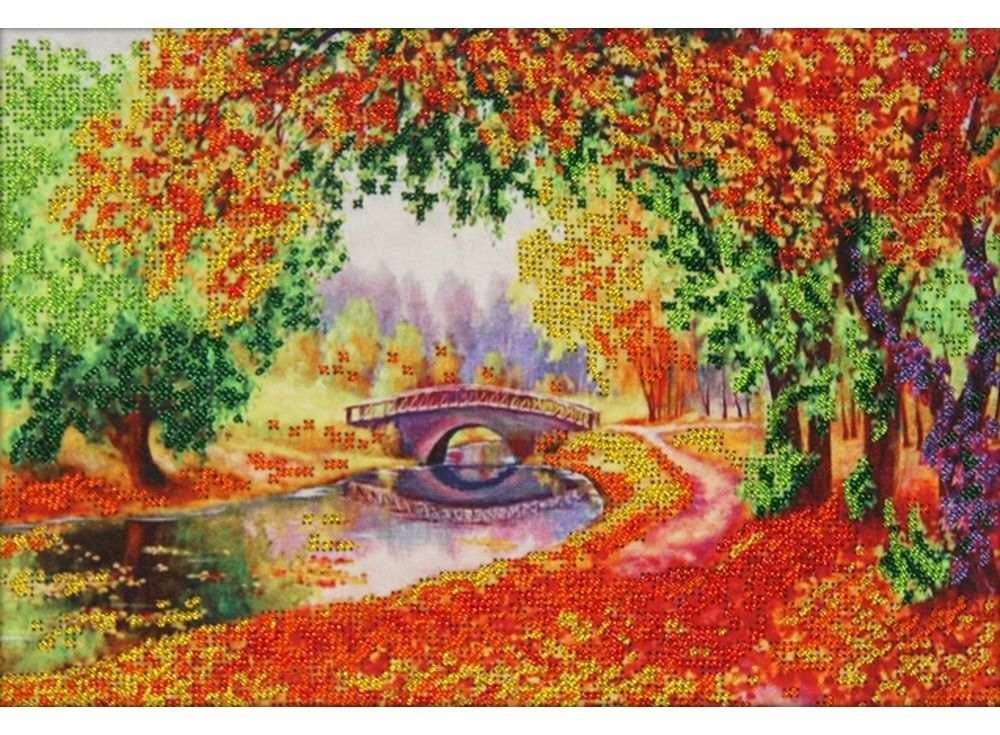 Набор вышивки бисером «Осень»Вышивка бисером Астрея (Глурия)<br><br><br>Артикул: 61011<br>Основа: габардин<br>Размер: 30х21 см<br>Техника вышивки: бисер<br>Тип схемы вышивки: Цветная схема<br>Количество цветов: 6<br>Заполнение: Частичное<br>Рисунок на канве: нанесён рисунок и схема<br>Техника: Вышивка бисером
