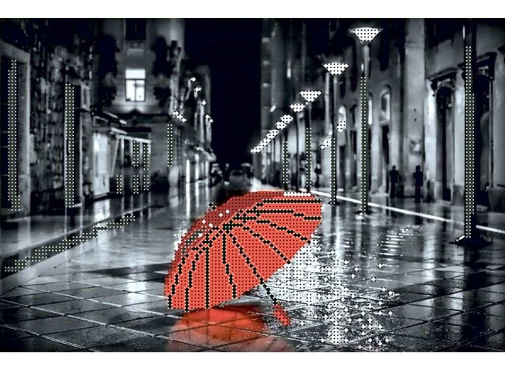 Набор вышивки бисером «Красный зонтик»Вышивка бисером Глурия (Астрея)<br><br><br>Артикул: 61017<br>Основа: габардин<br>Размер: 30х20 см<br>Техника вышивки: бисер<br>Тип схемы вышивки: Цветная схема вышивки<br>Количество цветов: 5<br>Заполнение: Частичное