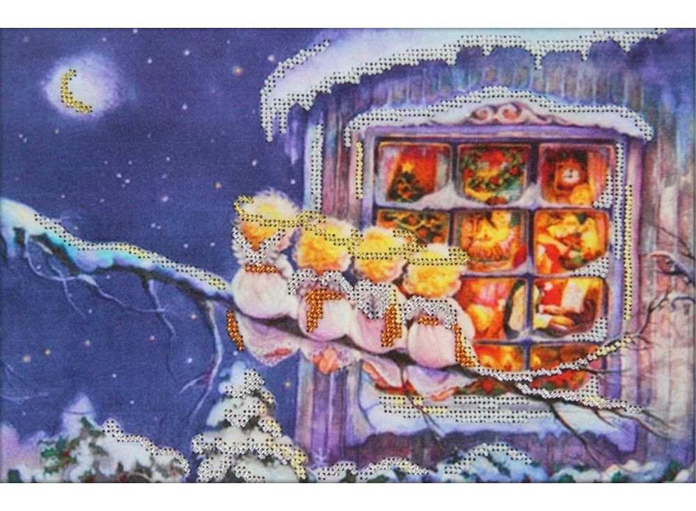 Набор вышивки бисером «С Рождеством»Вышивка бисером Астрея (Глурия)<br><br><br>Артикул: 62007<br>Основа: габардин<br>Размер: 30х20 см<br>Техника вышивки: бисер<br>Тип схемы вышивки: Цветная схема<br>Количество цветов: 5<br>Заполнение: Частичное<br>Рисунок на канве: нанесён рисунок и схема<br>Техника: Вышивка бисером