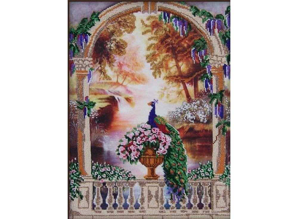 Набор вышивки бисером «Райский сад»Вышивка бисером Астрея (Глурия)<br><br><br>Артикул: 63105<br>Основа: габардин<br>Размер: 30х40 см<br>Техника вышивки: бисер<br>Тип схемы вышивки: Цветная схема<br>Количество цветов: 10<br>Заполнение: Частичное<br>Рисунок на канве: нанесён рисунок и схема<br>Техника: Вышивка бисером