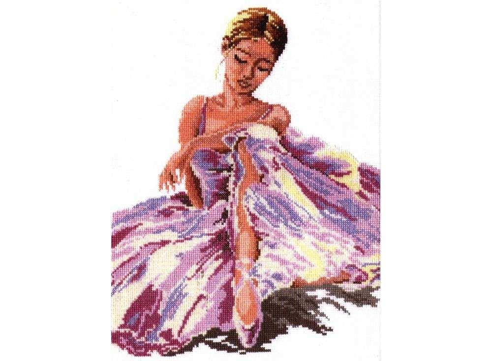 Набор для вышивания «Балерина»Вышивка крестом Чудесная игла<br><br><br>Артикул: 65-01<br>Основа: канва Aida 14 (хлопок)<br>Сложность: средние<br>Размер: 24x30 см<br>Техника вышивки: счетный крест<br>Тип схемы вышивки: Цветная схема<br>Цвет канвы: Белый<br>Количество цветов: 15<br>Игла: № 24<br>Рисунок на канве: не нанесён<br>Техника: Вышивка крестом<br>Нитки: мулине 100% хлопок Gamma