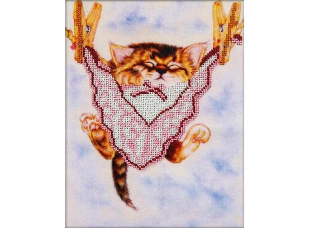 Набор вышивки бисером «Спящий котенок»Вышивка бисером Астрея (Глурия)<br><br><br>Артикул: 66006<br>Основа: габардин<br>Размер: 20х25 см<br>Техника вышивки: бисер<br>Тип схемы вышивки: Цветная схема<br>Количество цветов: 7<br>Заполнение: Частичное<br>Рисунок на канве: нанесён рисунок и схема<br>Техника: Вышивка бисером
