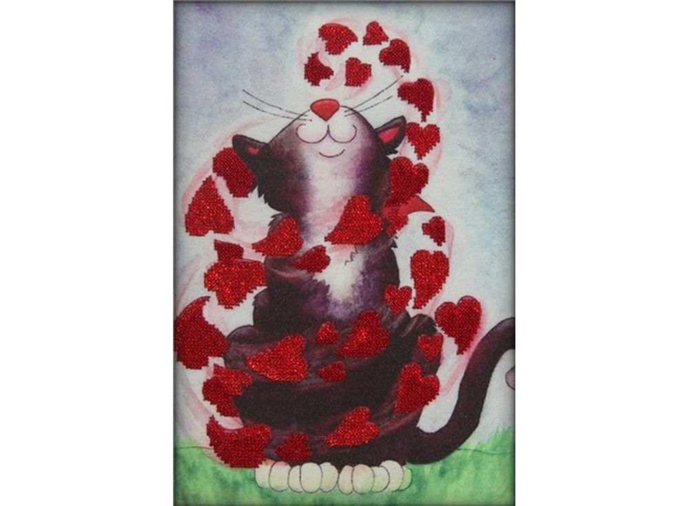 Набор вышивки бисером «Весенний кот»Вышивка бисером Астрея (Глурия)<br><br><br>Артикул: 66008<br>Основа: габардин<br>Размер: 20х30 см<br>Техника вышивки: бисер<br>Тип схемы вышивки: Цветная схема<br>Количество цветов: 2<br>Заполнение: Частичное<br>Рисунок на канве: нанесён рисунок и схема<br>Техника: Вышивка бисером