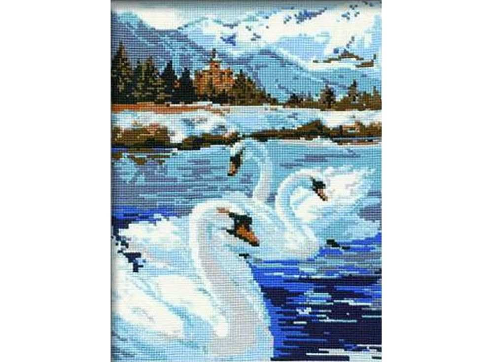 Купить Вышивка крестом, Набор для вышивания «Лебеди», Риолис (Сотвори Сама)