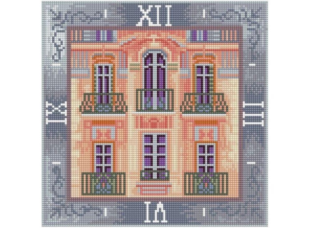 Алмазные часы «Дом с мезонином»Color Kit (Алмазные часы)<br><br><br>Артикул: 7303001-P<br>Основа: Холст на подрамнике<br>Сложность: сложные<br>Размер: 30x30 см<br>Выкладка: Полная<br>Количество цветов: 15-25<br>Тип страз: Круглые непрозрачные (акриловые)