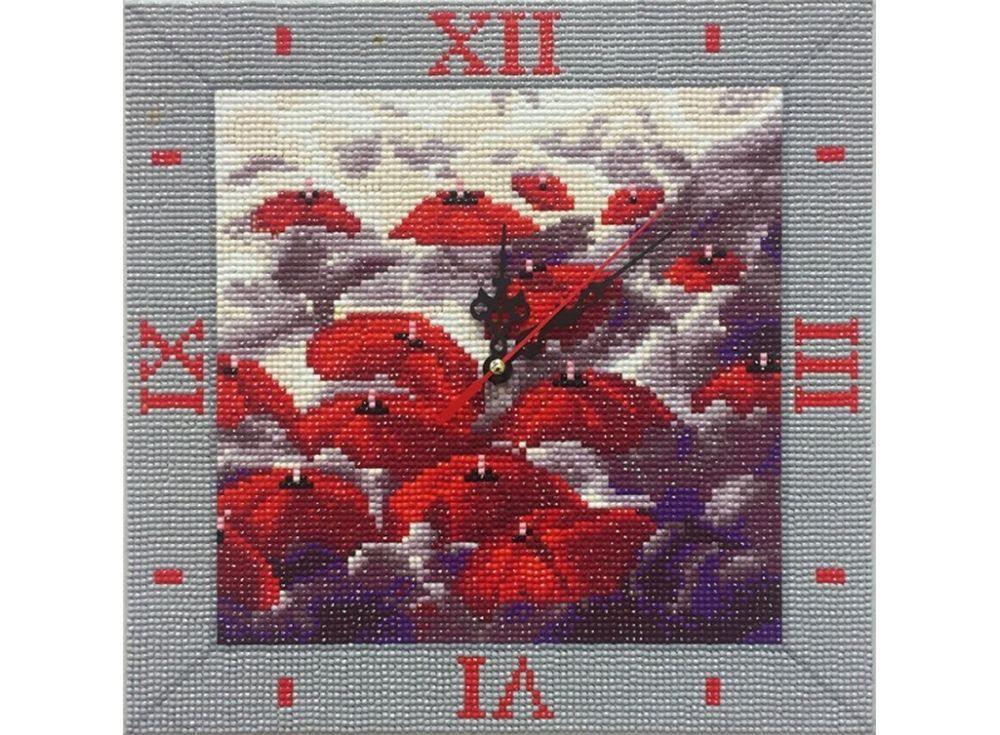 Алмазные часы «Капризные зонты»Color Kit (Алмазные часы)<br><br><br>Артикул: 7303006-P<br>Основа: Холст на подрамнике<br>Сложность: сложные<br>Размер: 30x30 см<br>Выкладка: Полная<br>Количество цветов: 15-25<br>Тип страз: Круглые непрозрачные (акриловые)