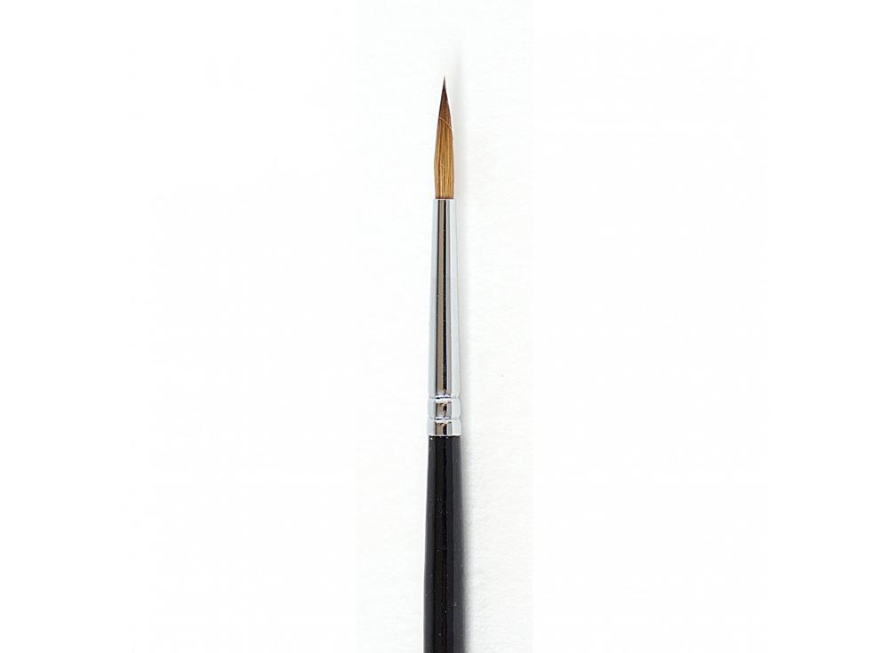 Кисть из колонка «Simple» круглая №2Аксессуары для рисования картин по номерам<br>Кисть Малевичъ из колонка с тонким кончиком отлично удерживает краску, отдавая ее равномерно и медленно. Может быть использована для работы над картиной акварельными, акриловыми или масляными красками.<br> <br> Ручка: изготовлена из березы, длиной 16 см, покр...<br><br>Артикул: 731001