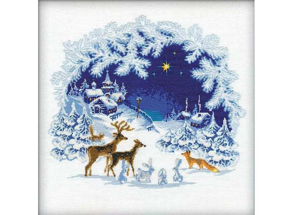 Купить Вышивка крестом, Набор для вышивания «Рождество», Риолис (Сотвори Сама), 45x45 см, 793