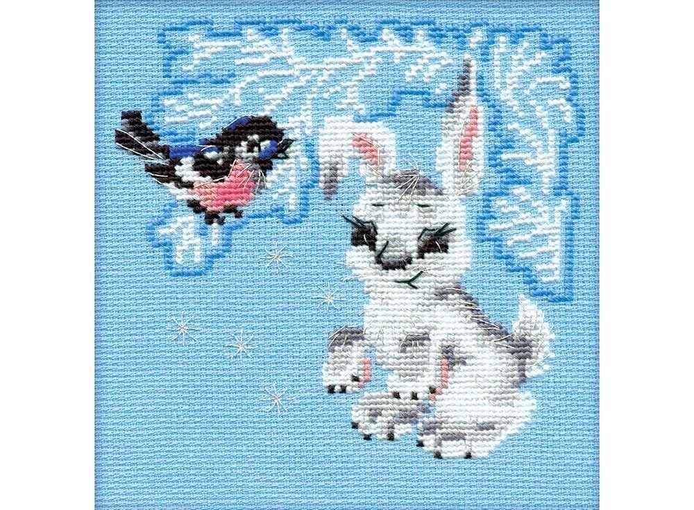 Купить Вышивка крестом, Набор для вышивания «Зайчонок», Риолис (Сотвори Сама), 15x15 см, 798
