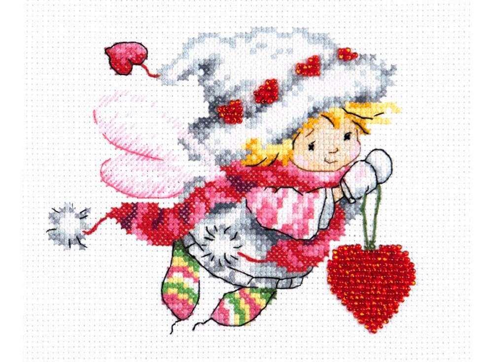 Набор для вышивания «Дорогому сердцу!»Вышивка крестом Чудесная игла<br><br><br>Артикул: 80-07<br>Основа: канва Aida 14 (хлопок)<br>Сложность: средние<br>Размер: 13x11 см<br>Техника вышивки: счетный крест<br>Тип схемы вышивки: Цветная схема<br>Цвет канвы: Белый<br>Количество цветов: 17<br>Игла: № 24, игла для бисера<br>Рисунок на канве: не нанесён<br>Техника: Вышивка крестом<br>Нитки: мулине 100% хлопок Чудесная игла