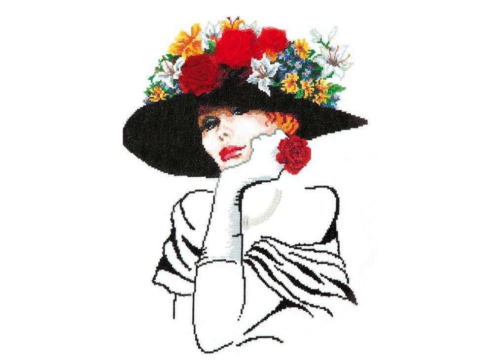 Набор для вышивания «Леди Шарм»Вышивка крестом Чудесная игла<br><br>