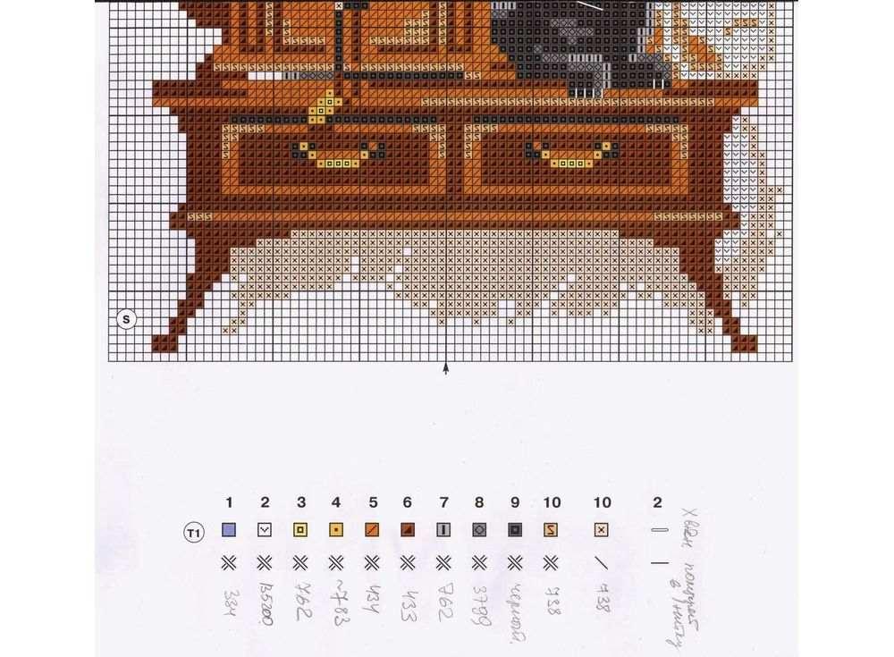 Схемы вышивки крестом кот риолис