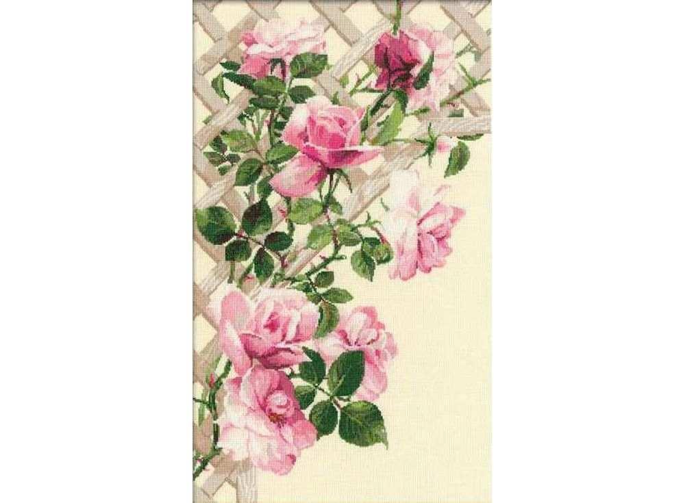 Набор для вышивания «Розовые розы»Вышивка крестом Риолис<br><br><br>Артикул: 898<br>Основа: канва 15 Aida Zweigart<br>Размер: 35х55 см<br>Техника вышивки: счетный крест<br>Серия: Риолис (Сотвори Сама)<br>Тип схемы вышивки: Цветная схема<br>Цвет канвы: Бежевый<br>Количество цветов: 22<br>Художник, дизайнер: Галина Скабеева<br>Заполнение: Полное<br>Рисунок на канве: не нанесён<br>Техника: Вышивка крестом