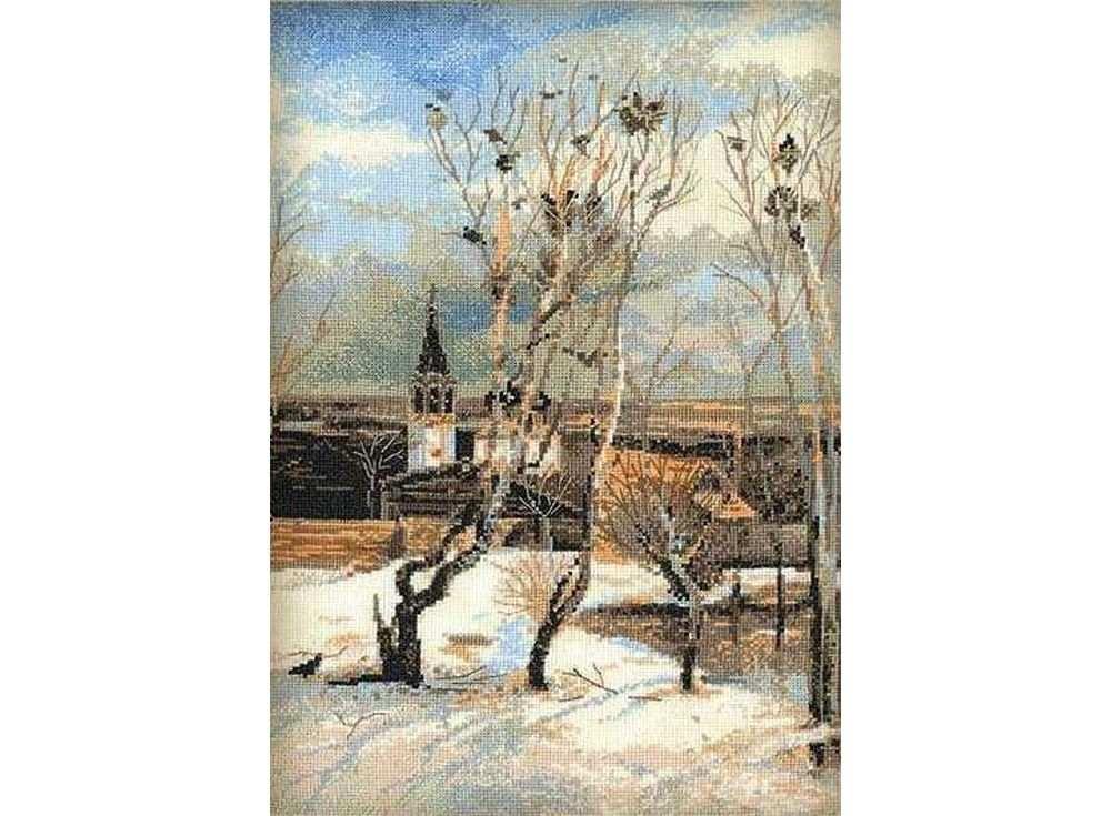 Набор для вышивания «Грачи прилетели» по мотивам картины А.СаврасоваВышивка крестом Риолис<br><br>