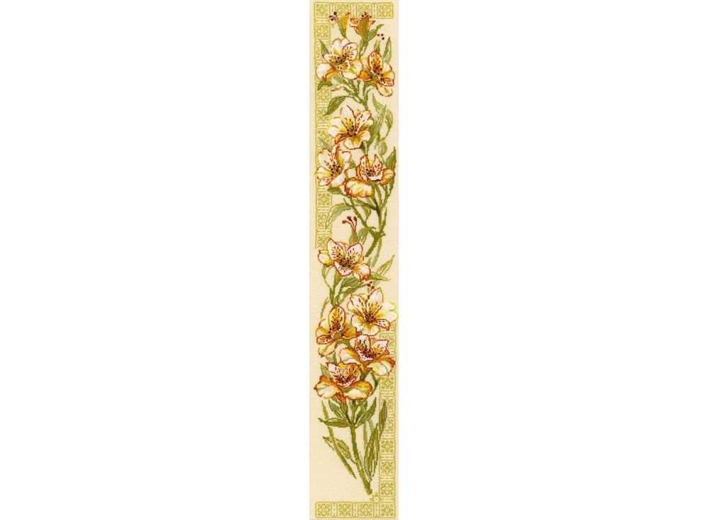 Купить Вышивка крестом, Набор для вышивания «Альстремерии», Риолис (Сотвори Сама), 20x92 см, 939