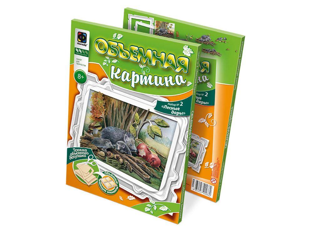 Объемная картина «Лесные дары»Аппликации<br><br><br>Артикул: 956022<br>Размер упаковки: 30x22x1 см<br>Возраст: от 5 лет