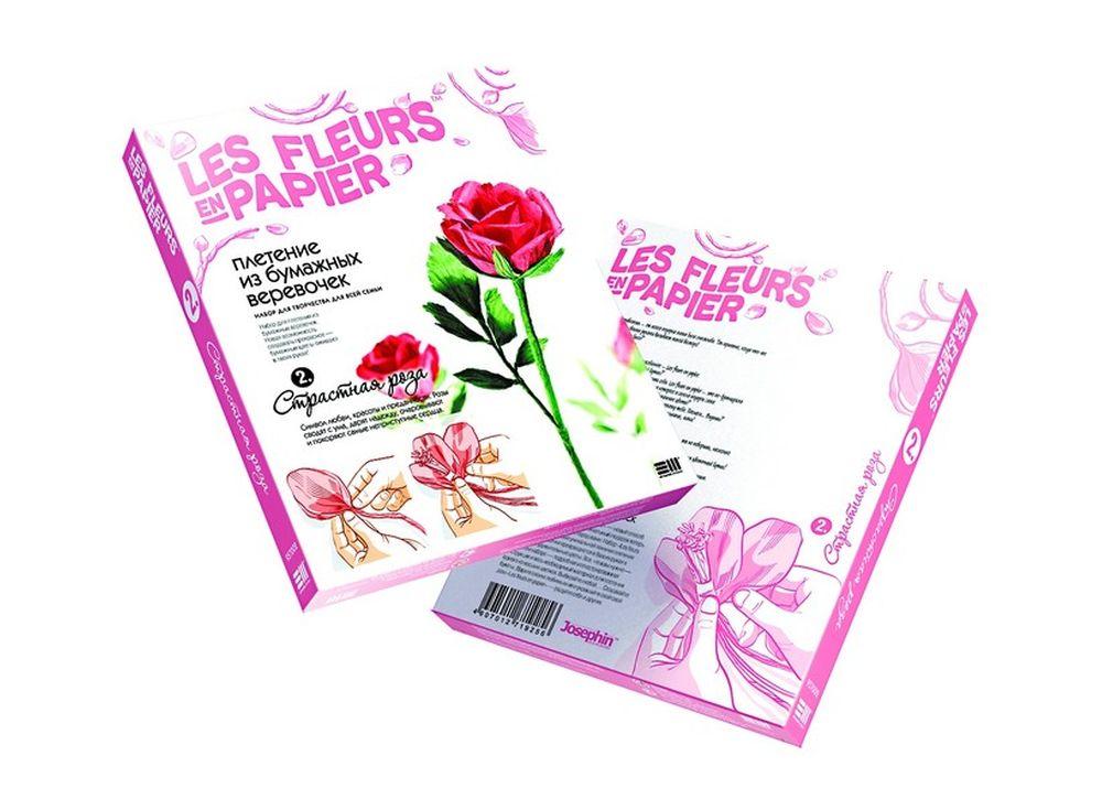 Плетение из бумаги «Страстная роза»Плетение из бумаги<br><br><br>Артикул: 957002<br>Размер упаковки: 22x18,5x2,5 см<br>Возраст: от 8 лет