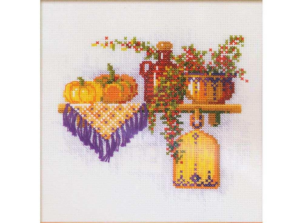 Купить Вышивка крестом, Набор для вышивания «Тыква», Риолис (Сотвори Сама), 21x21 см, 994