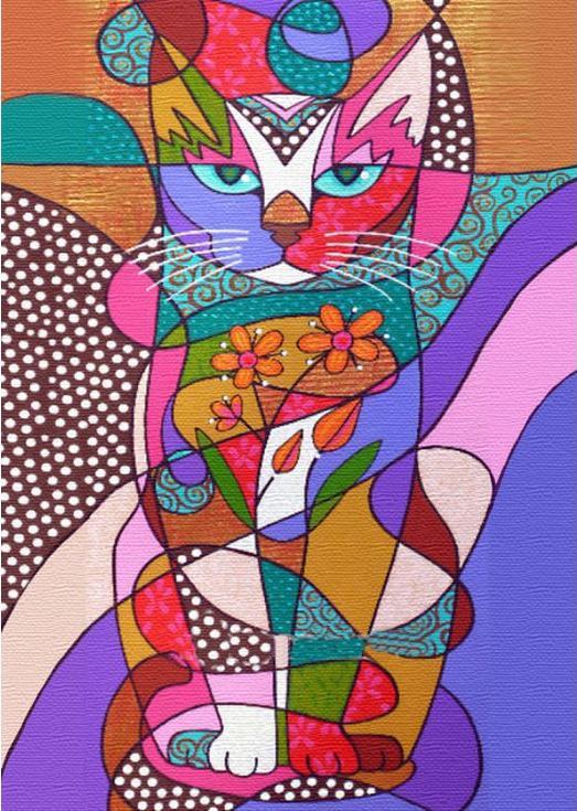 Стразы «Витражный кот»Алмазная вышивка Гранни<br><br><br>Артикул: Ag038<br>Основа: Холст без подрамника<br>Сложность: средние<br>Размер: 27x38 см<br>Выкладка: Полная<br>Количество цветов: 51<br>Тип страз: Квадратные