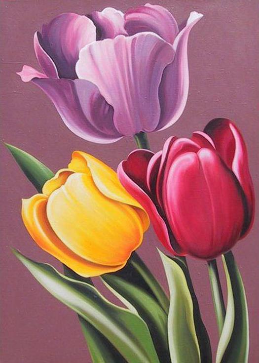 Стразы «Аромат тюльпанов»Алмазная вышивка Гранни<br><br><br>Артикул: Ag053<br>Основа: Холст без подрамника<br>Сложность: средние<br>Размер: 27x38 см<br>Выкладка: Полная<br>Количество цветов: 42<br>Тип страз: Квадратные