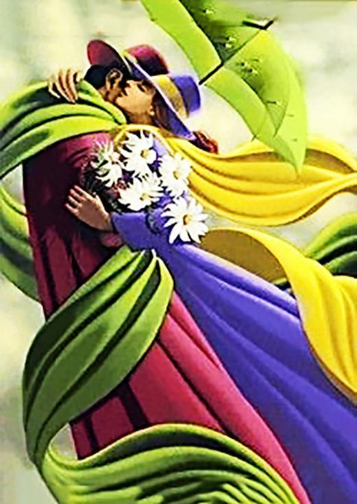 Стразы «Долгожданная встреча»Алмазная вышивка Гранни<br><br><br>Артикул: Ag 689<br>Основа: Холст без подрамника<br>Сложность: сложные<br>Размер: 27x38 см<br>Выкладка: Полная<br>Количество цветов: 42<br>Тип страз: Квадратные