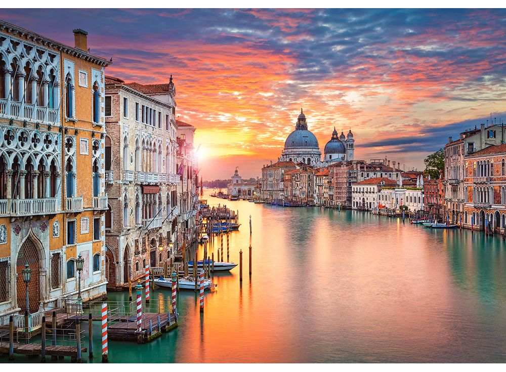 Пазлы «Венеция на закате»Пазлы от производителя Castorland<br><br><br>Артикул: B52479<br>Размер: 47x33 см