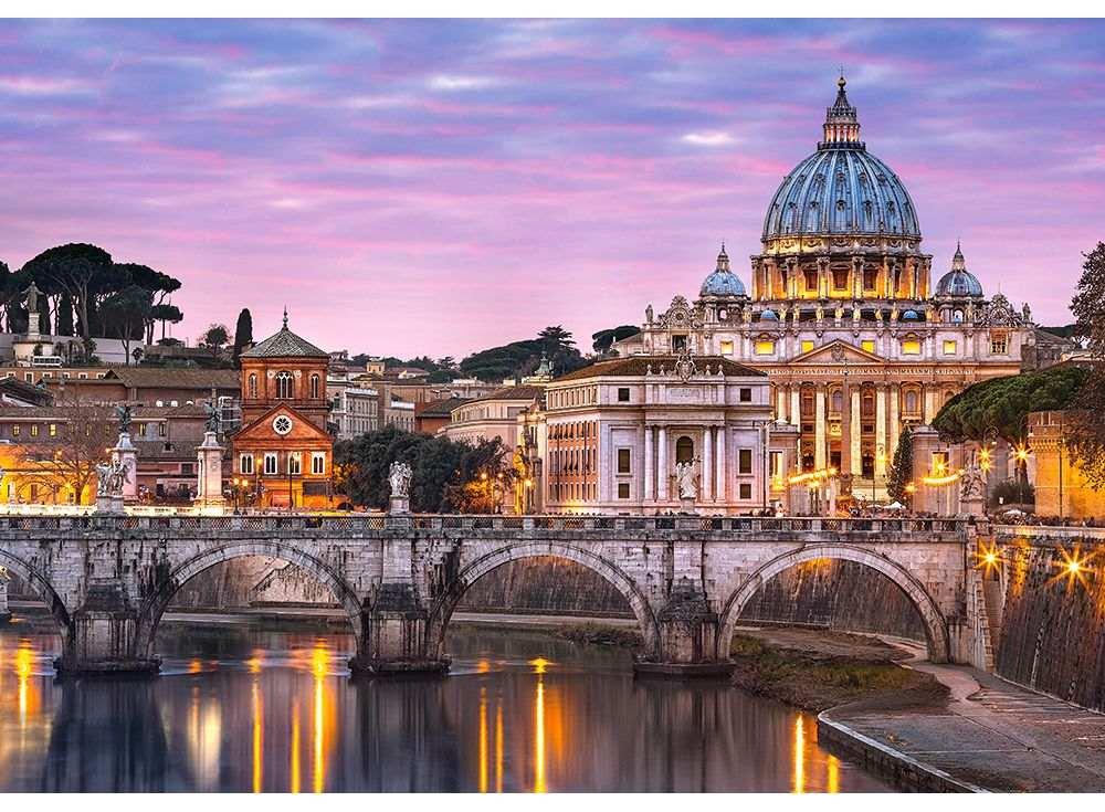 Пазлы «Вид на Ватикан»Пазлы от производителя Castorland<br><br><br>Артикул: B52493<br>Размер: 47x33 см