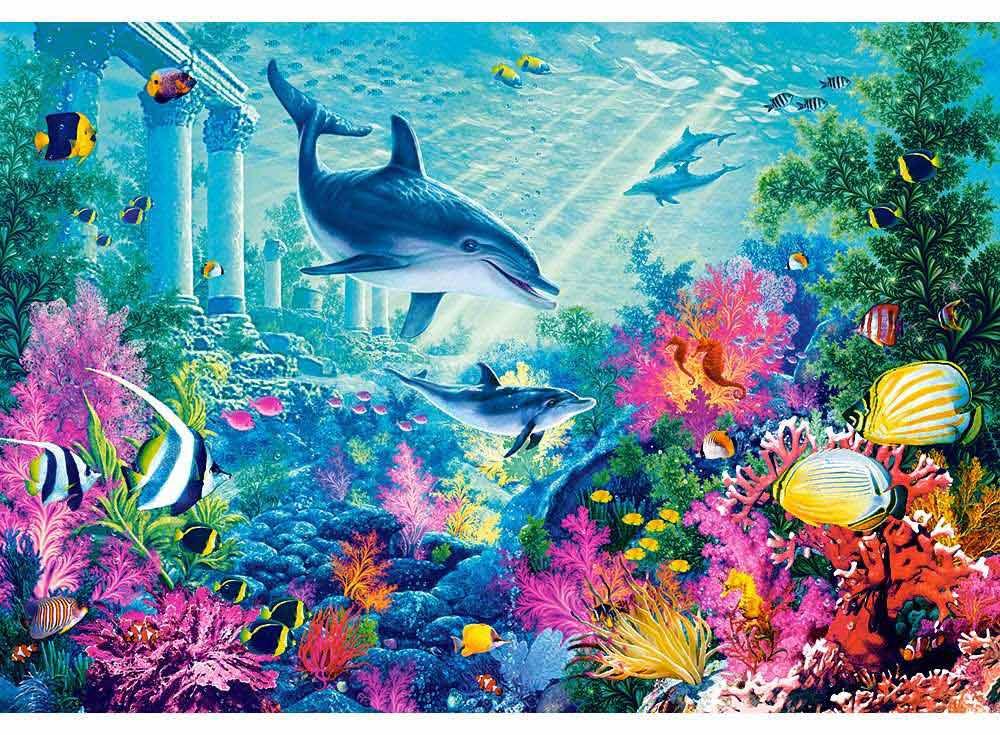 Пазлы «Подводная разведка»Пазлы от производителя Castorland<br><br><br>Артикул: C103515<br>Размер: 68x47 см