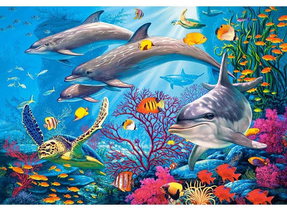 Пазлы «Тайны рифа»Пазлы от производителя Castorland<br><br><br>Артикул: C151486<br>Размер: 68x47 см