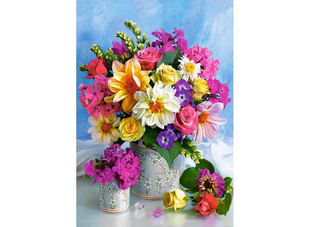 Пазлы «Букет цветов»Пазлы от производителя Castorland<br><br><br>Артикул: C151516<br>Размер: 68x47 см
