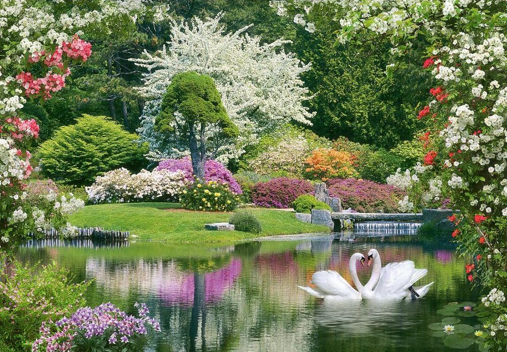 Алмазная вышивка «Весна идёт»Алмазная вышивка<br>Алмазная вышивка «Весна идет» собрала в себе только самые лучшие проявления природы. Это и цветущие разными красками сады, и пара лебедей, трогательно прижавшиеся друг к другу клювами, и слегка колышущаяся от легкого теплого ветерка озерная гладь. На эту ...<br>