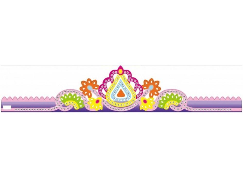 Мозаика из стикеров «Корона фиолетовая»Мозаика из стикеров<br><br><br>Артикул: GH001<br>Основа: Картон<br>Размер: 13,5x64 см<br>Возраст: от 3 лет