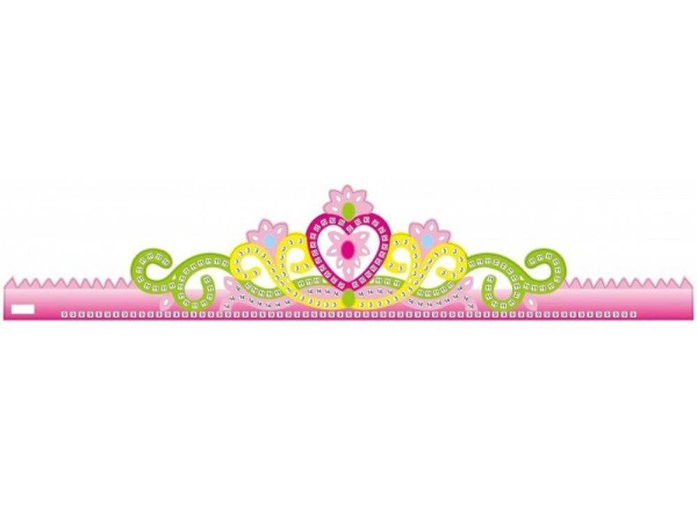 Мозаика из стикеров «Корона розовая»Мозаика из стикеров<br><br><br>Артикул: GH002<br>Основа: Картон<br>Размер: 13,5x64 см<br>Возраст: от 3 лет