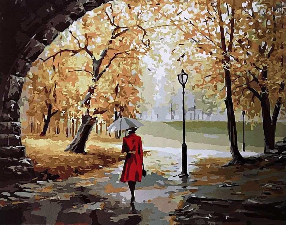 «Прогулка под дождем»Раскраски по номерам Paintboy (Original)<br><br><br>Артикул: GX3825_R<br>Основа: Холст<br>Сложность: средние<br>Размер: 40x50 см<br>Количество цветов: 25<br>Техника рисования: Без смешивания красок