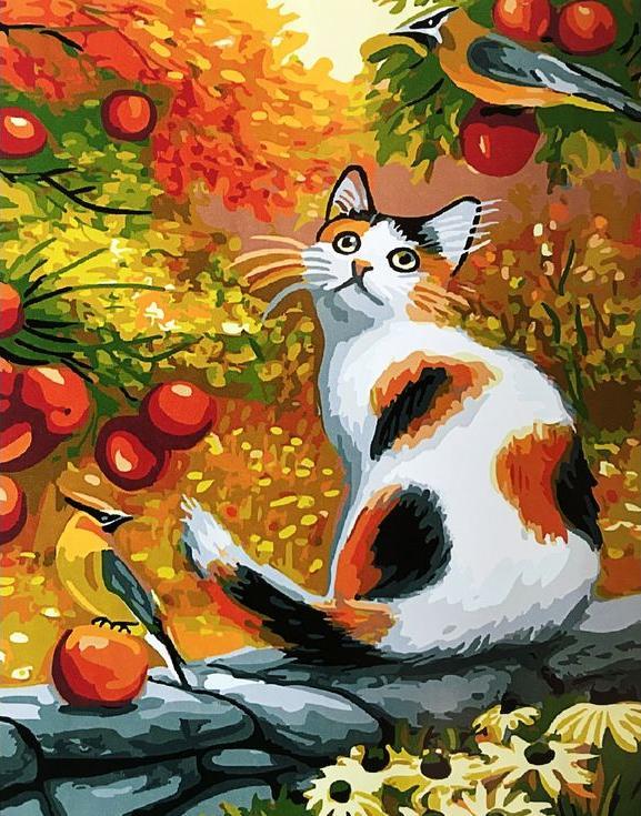 Картина по номерам «Золотая осень» Бриджет ВотPaintboy (Premium)<br><br><br>Артикул: GX3873<br>Основа: Холст<br>Сложность: средние<br>Размер: 40x50 см<br>Количество цветов: 27<br>Техника рисования: Без смешивания красок